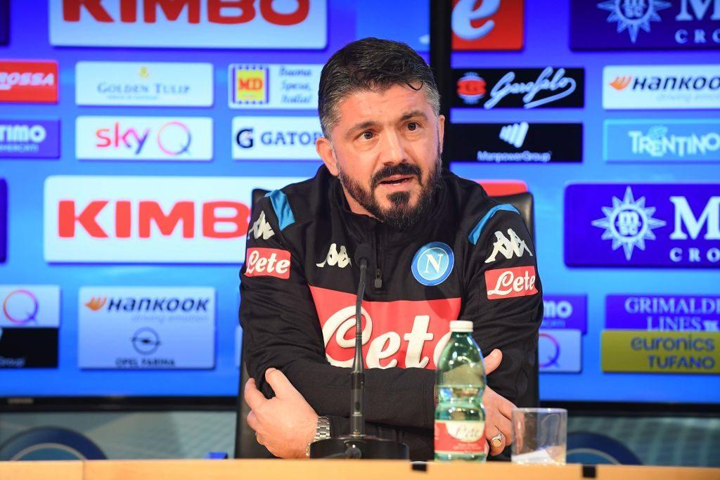 Gattuso conferenza Cagliari-Napoli