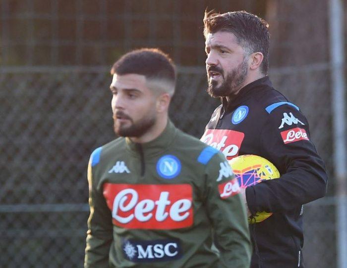 Insigne, allenamento con la maglia del Napoli