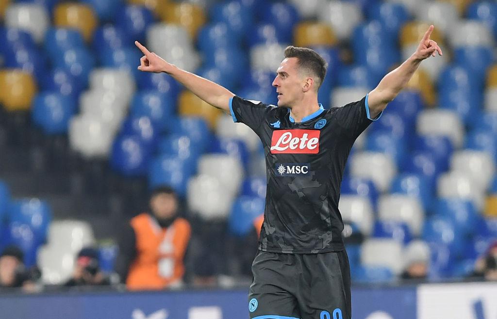 Milik in vista di Napoli Juventus