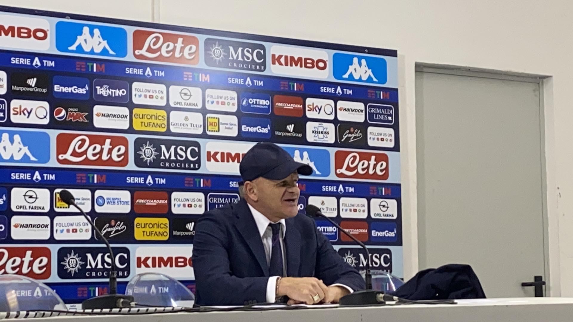 Iachini conferenza Napoli-Fiorentina
