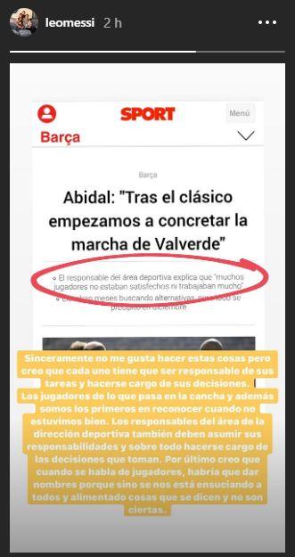 Messi risponde ad Abidal