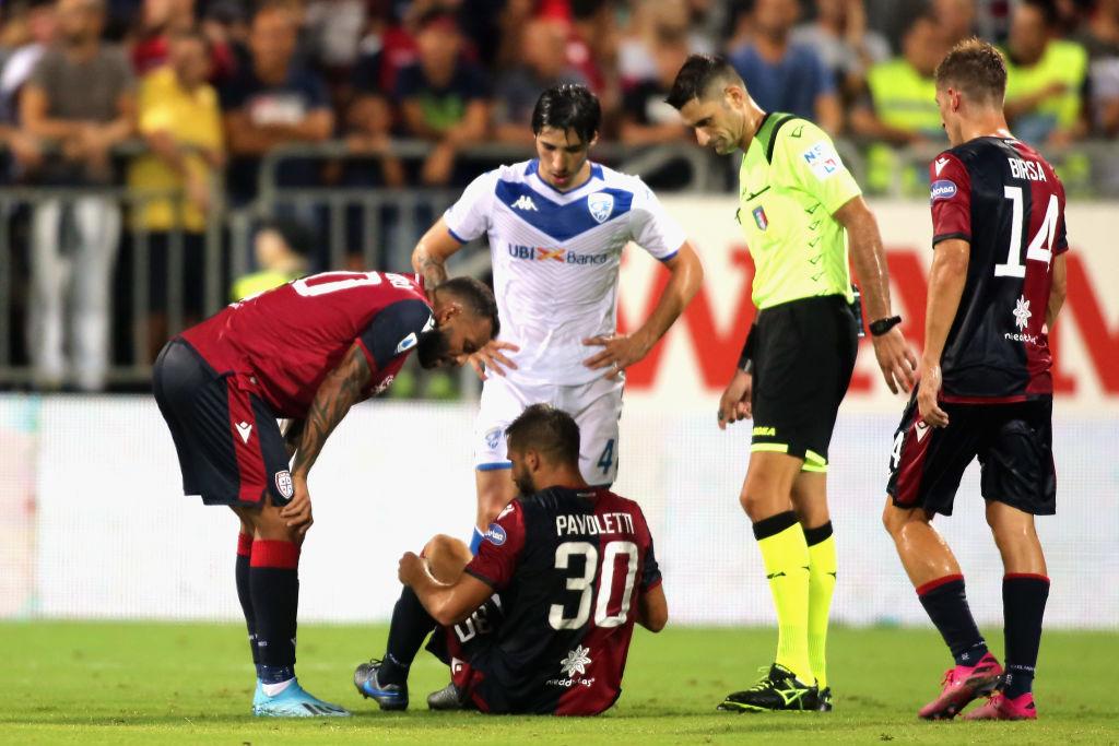 Cagliari Pavoletti Napoli tweet