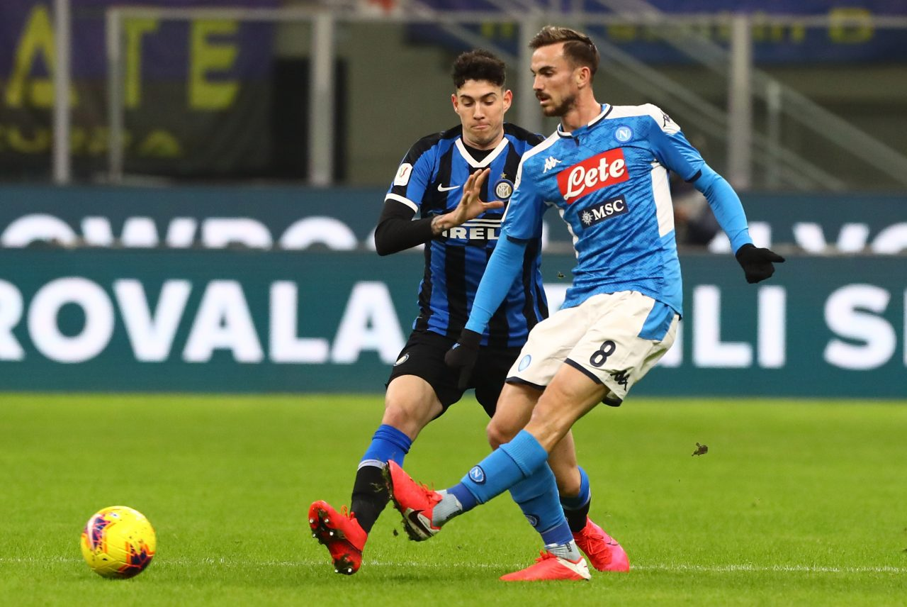 Inter Napoli, gol Fabiàn