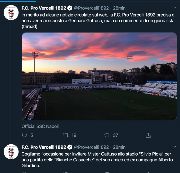 Pro Vercelli Gattuso