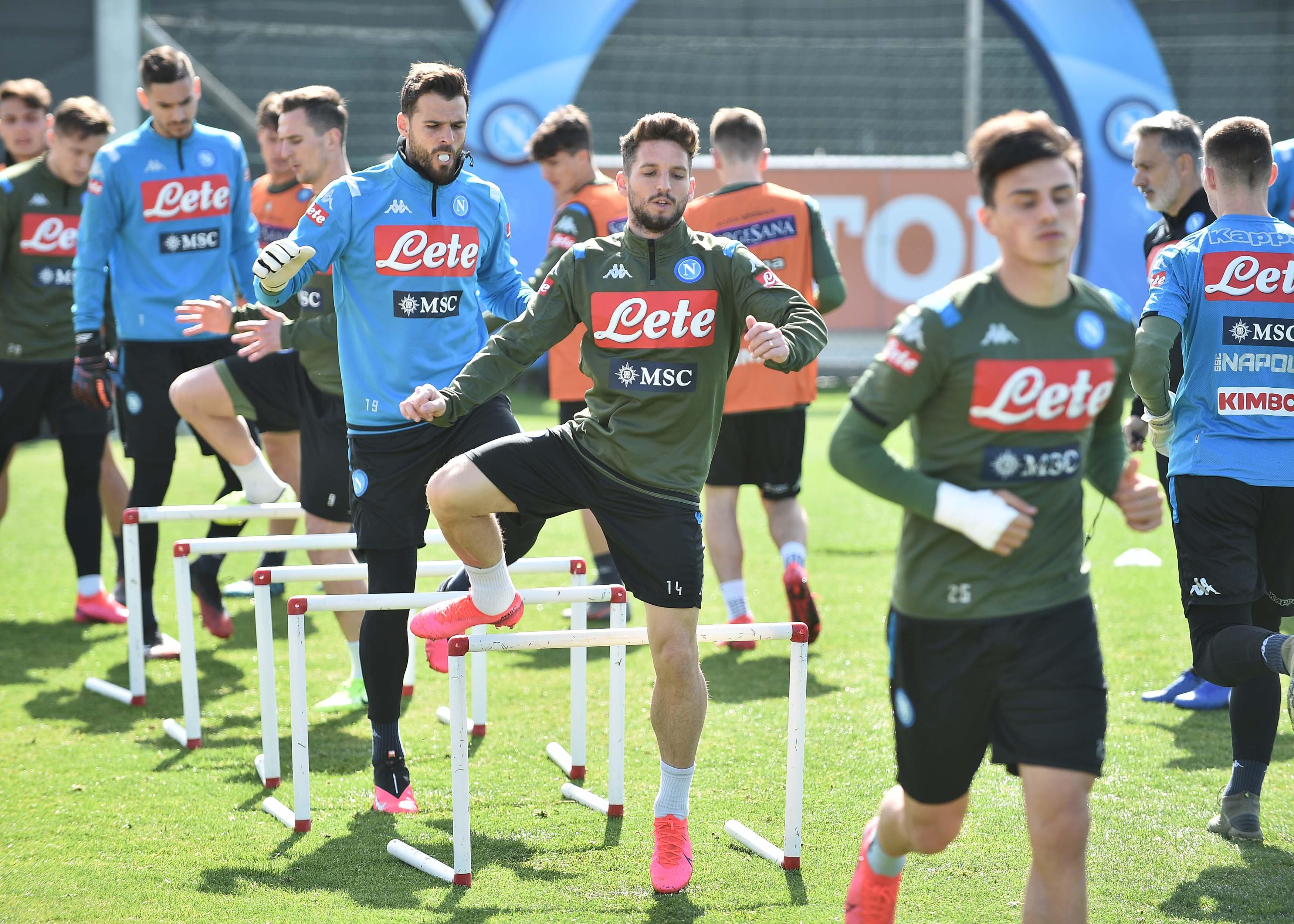 Napoli, il programma degli allenamenti