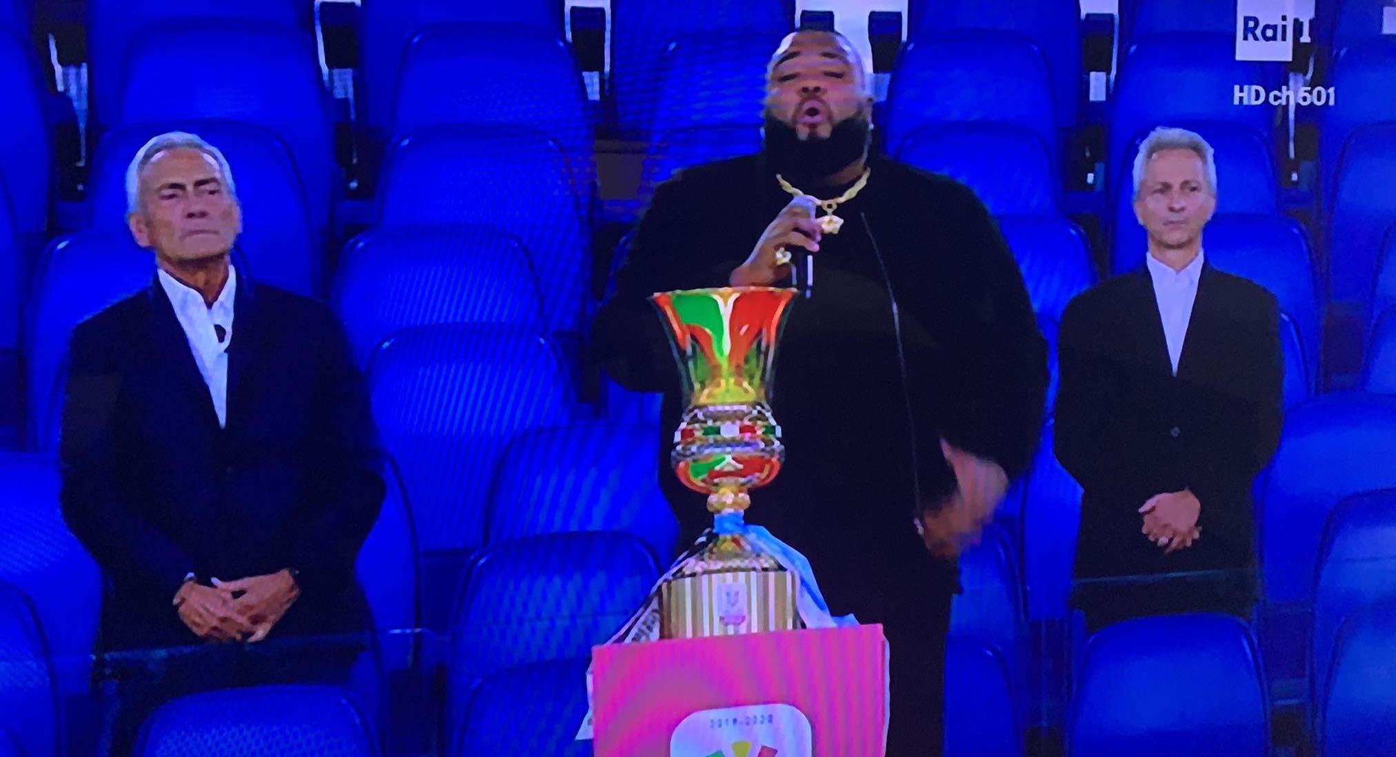 Coppa Italia, l'inno di Sergio Sylvestre