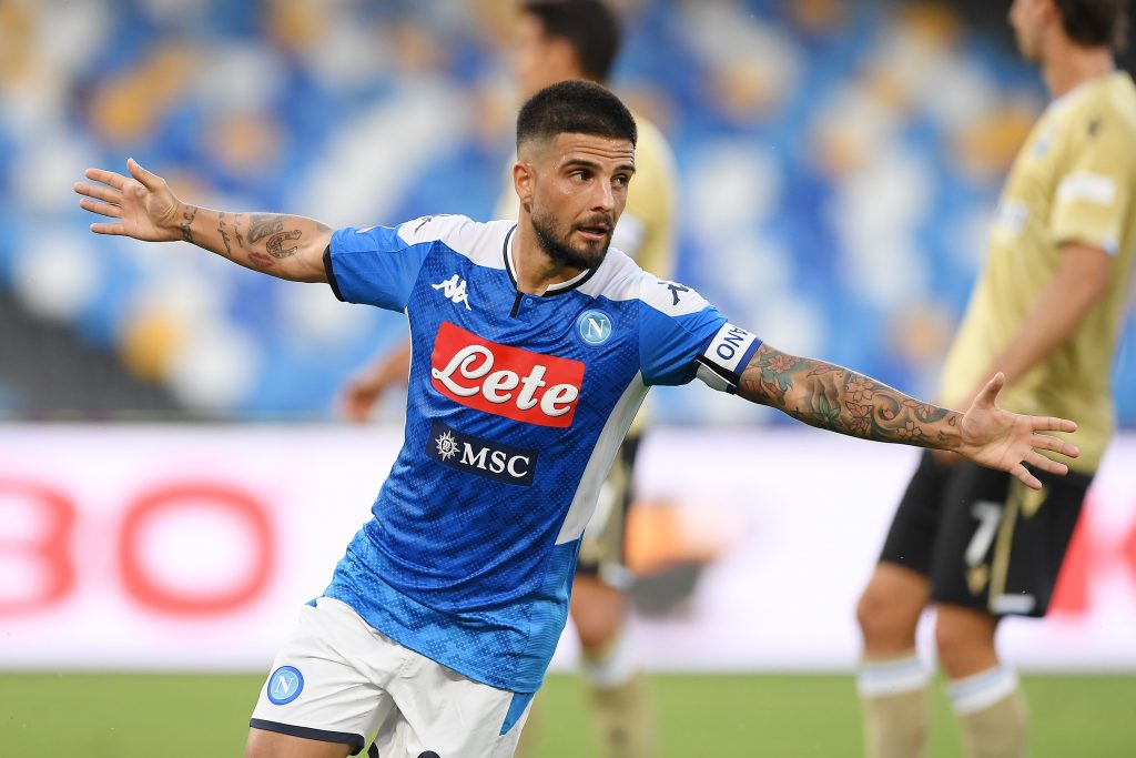 Napoli-Roma, gol Insigne