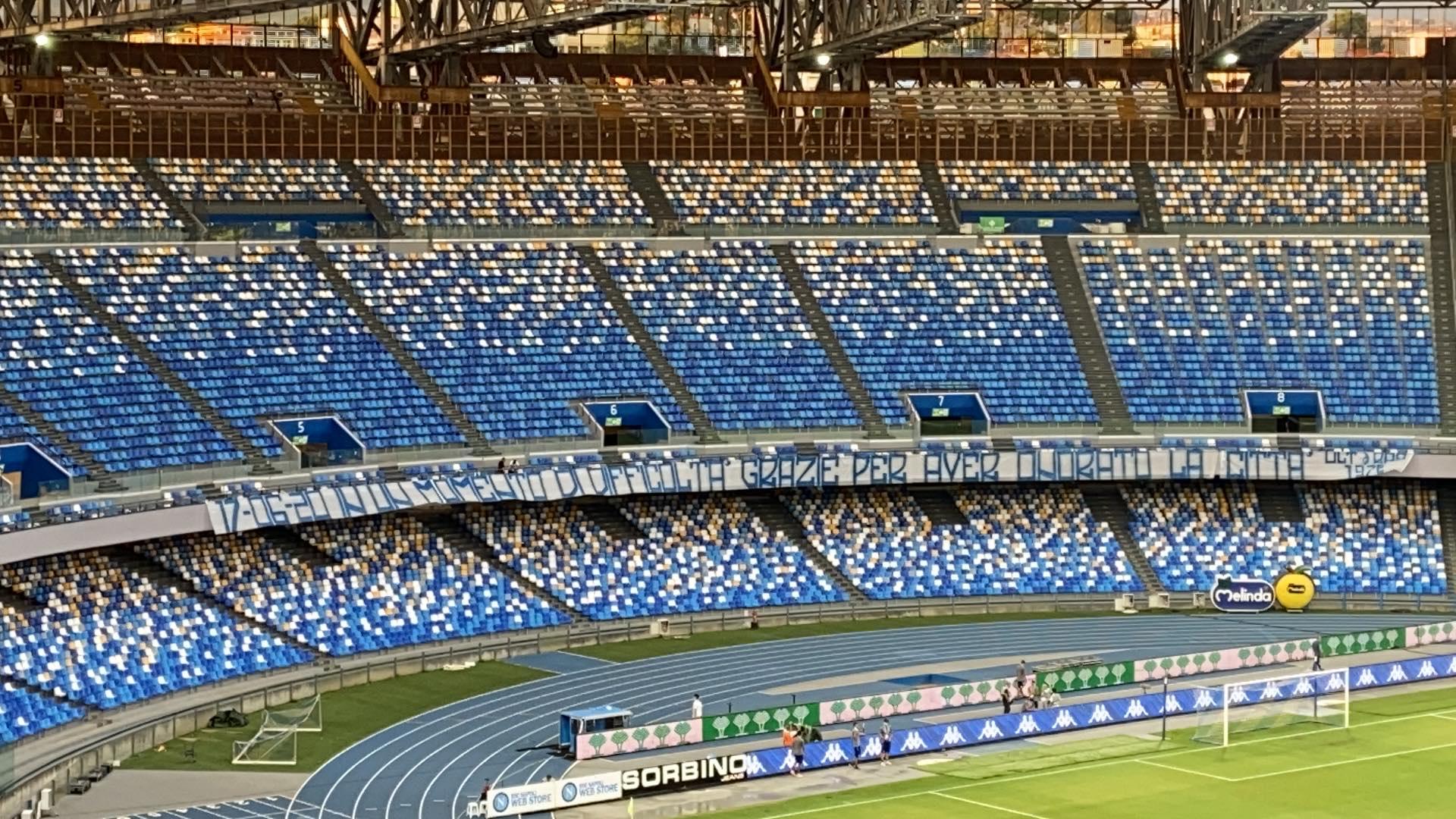 Napoli Lazio striscione