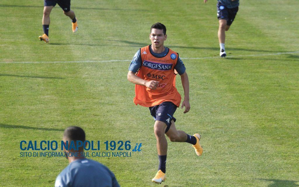 Lozano gol allenamento