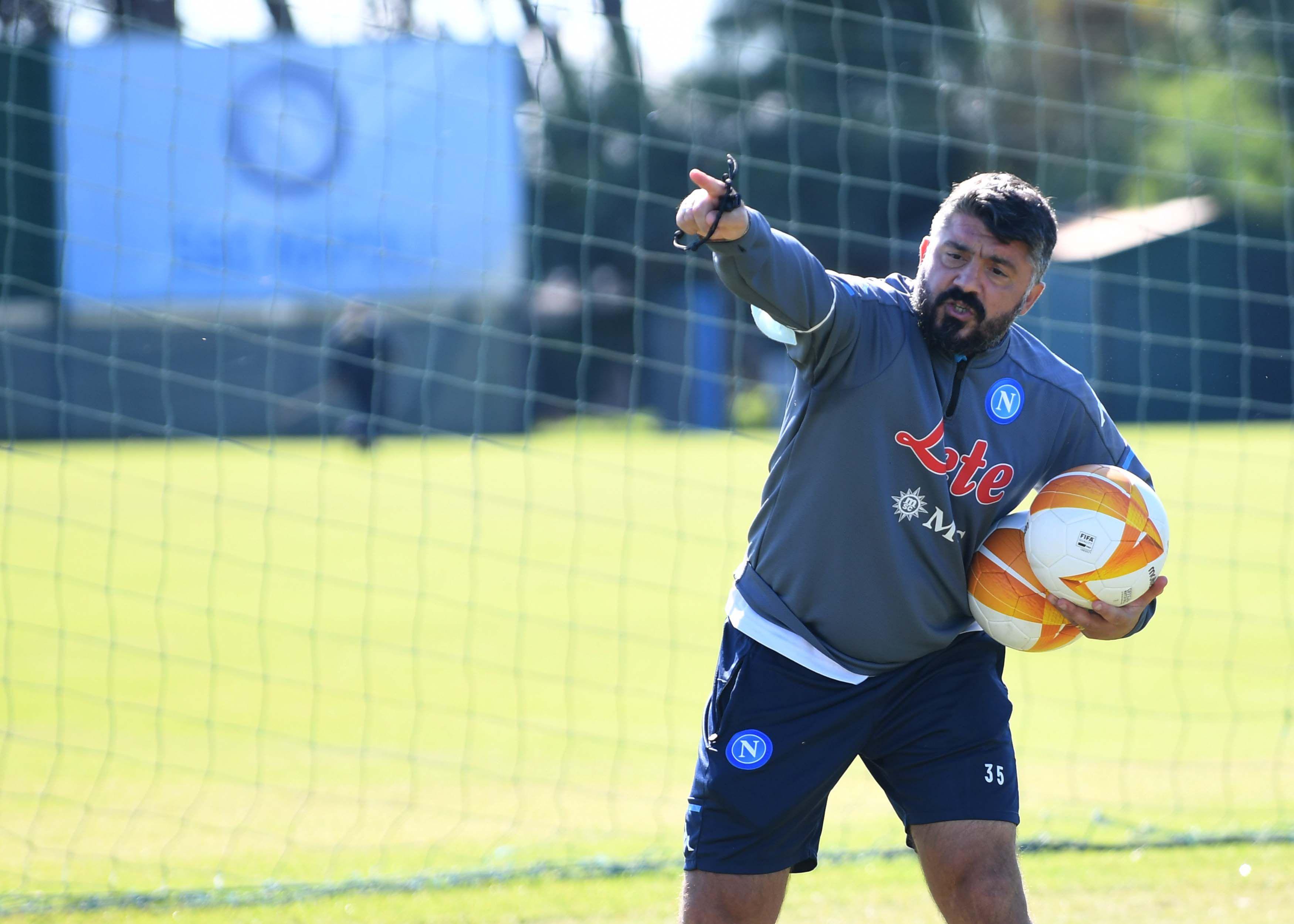 Napoli, allenamento (Europa League)